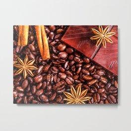 Coffee And Cinnamon Metal Print