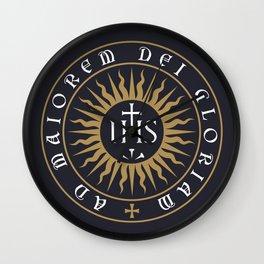 Ignatius of Loyola Society of Jesus Motto Wall Clock