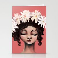 daisies Stationery Cards featuring Daisies by Jaleesa McLean