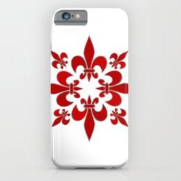 Fleur de Lis pattern iPhone Case