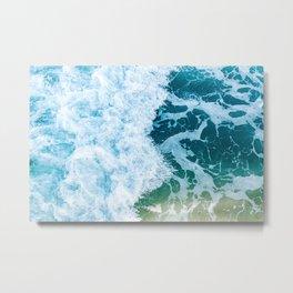 Blue sea ocean beach California Bali Thailand waves summer vacation / 50 Metal Print