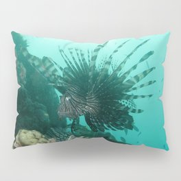 Watercolor Fish, Lionfish 01, St John, USVI, Ouch, Don't Get Poked! Pillow Sham