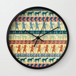 Egyptian Unicorn Pattern Wall Clock
