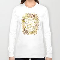 fitzgerald Long Sleeve T-shirts featuring Zelda Fitzgerald – Fall Palette by Cat Coquillette