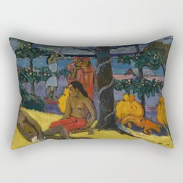 "Paul Gauguin ""Te Arii Vahine (La Femme Aux Mangos)"" Rectangular Pillow"