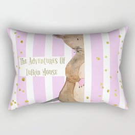 The Adventures Of Lufkin Mouse - Pink - Bagaceous Rectangular Pillow