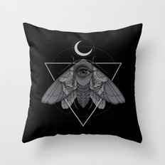 Occult Moth Throw Pillow