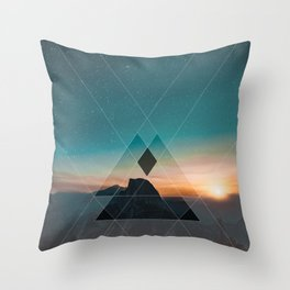 Mountain Landscape Geometric Throw Pillow