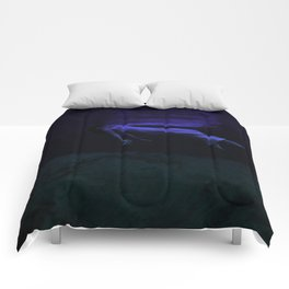 Rising To The Top : Deep Blue Water Photograph Comforters