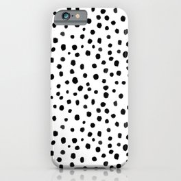Modern Polka Dot Hand Painted Pattern iPhone Case
