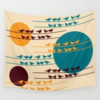 birdy Wall Tapestries featuring birdy by BruxaMagica_susycosta