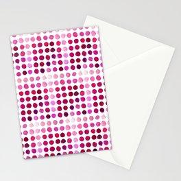 Pink Pink Polka Pink Stationery Cards