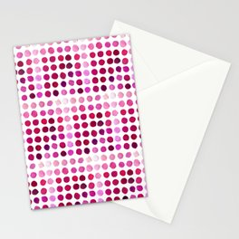 Pink Pink Polka Pink Stationery Cards
