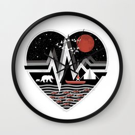 Starry Night in the Wilderness Wall Clock