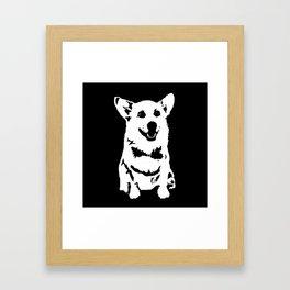 CORGI PET DOG Framed Art Print