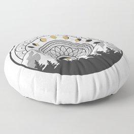 Moon Forest Floor Pillow
