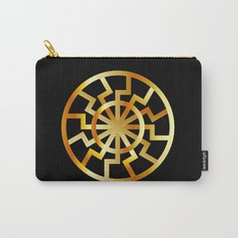 Black Sun symbol in gold- Schwarze Sonne- Occult subculture symbol Carry-All Pouch
