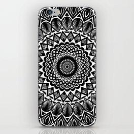 Detailed Black and White Mandala iPhone Skin