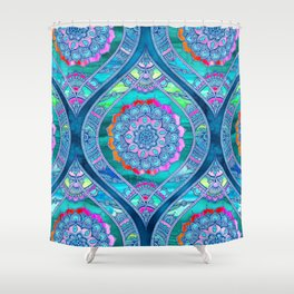 Radiant Boho Color Play Shower Curtain