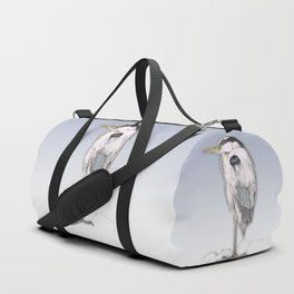 Blue heron Duffle Bag