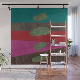 levitating over the leather rainbow Wall Mural