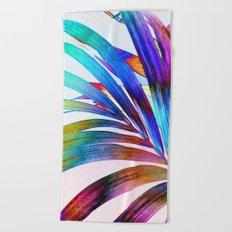 Multicolor Palm Leaf Beach Towel