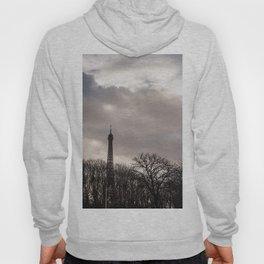 Eiffel tower cloudy day Hoody