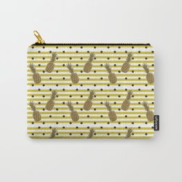 Fun with Pineapples -dots stripes Carry-All Pouch