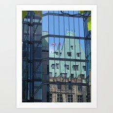 Maple leaf mirror Ottawa Art Print