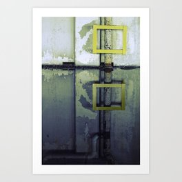A Yellow Square Art Print