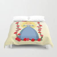 sleeping beauty Duvet Covers featuring Sleeping Beauty by Sara Showalter