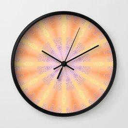 Let the Sun Shine Mandala Wall Clock