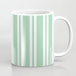 Mint Green Wide Small Wide Stripes Coffee Mug