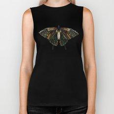 swallowtail butterfly teal Biker Tank