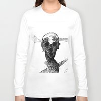 glitch Long Sleeve T-shirts featuring glitch by Kristian Talley