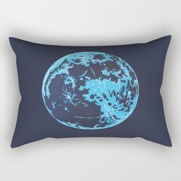 Turquoise Moon Rectangular Pillow