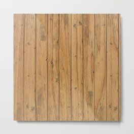 Rustic Wood Panel Pattern Metal Print
