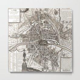 PARIS Old map Metal Print