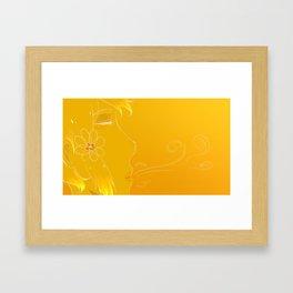 Golden breath Framed Art Print