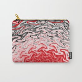 Fractal Rise in Red Black and White Carry-All Pouch