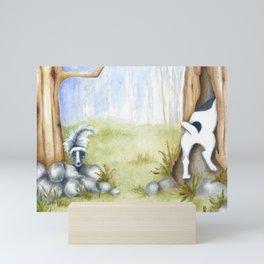 Hide and Seek Dog Original art Jack Russell Terrier JRT painting Mini Art Print