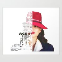 peggy carter Art Prints featuring Agent Peggy Carter by Sindhu Tngm