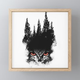 Owl Forest Framed Mini Art Print