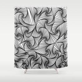 Fractal Sketch Light Shower Curtain