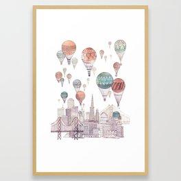 Voyages Over San Francisco ~ Refresh Framed Art Print