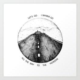 Biffy Clyro - Mountains lyrics Art Print