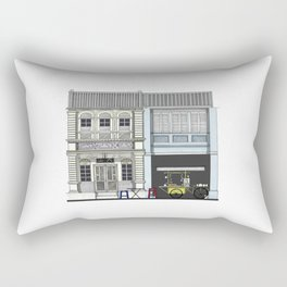 Penang Street Scene II Rectangular Pillow