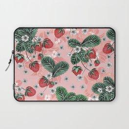 Strawberry Blush - Cute Pink Laptop Sleeve