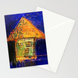 Yellow roof Stationery Cards