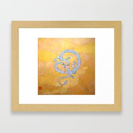 Happy Chinese New Year of the Dragon! Framed Art Print